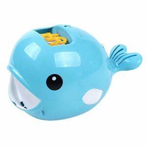 T TOOYFUL Souffleur Mignon de Fabricant de Bulle de Machine de Bulle de Forme de Baleine D'enfants pour Le Jeu de Plage de Partie – Bleu