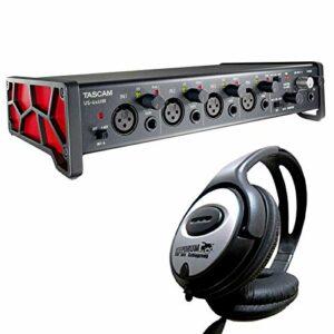 Tascam Interface audio MIDI USB haute résolution US 4x4HR + casque Keepdrum.