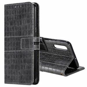 The Grafu Coque Galaxy A50, Étui en PU Cuir pour Samsung Galaxy A50, Portefeuille Housse à Rabat avec Fonction de Support et Slots de Carte, Gris