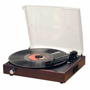 Tourne Disque Platine Vinyle, Lecteur De Courroie À 3 Vitesses Intégré Bluetooth pour Enregistrements De Vinyle, Lecteur D'enregistrement Phonographe avec 2 Haut-parleurs Stéréo pour La Maison