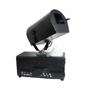 WZM Pompe Machine à Neige Artificielle 2000W Effet Flocons de Neige Très Réaliste Télécommande sans Fil Contrôleur Idéale pour Noël Animations Secouez la Tête à 180 ° Neige