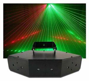 ZhanMa Éclairage de scène- LED Disco Lights LANXINYU 6 Pics Scan-Line Faisceau Party Lights Son Actif Effet d'étape projecteur DMX512 50W DJ Stroboscope for House Party de Mariage Club KTV Bar