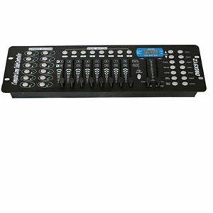 192 canaux DMX 512, contrôle de la lumière, contrôleur DMX, console DMX sans fil, équipement de pilote DMX pour lampe de scène, tête mobile, DJ, club, fête.