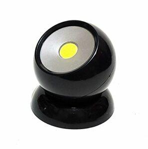 360° COB LED 180lm Lampe de travail Lampe Lumière Boule lumière rotatif et amovible magnétique Maison Voiture Outdoor Camping pêche Maison Jardin Noir Neuf