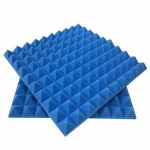 6688 Acoustic Panels Sound Dampening Panels Inches Sound Proof Padding Beveled Edge Tiles Idéal pour la décoration murale et le traitement acoustique