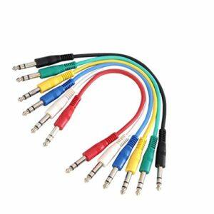 Adam Hall Cables K3BVV0090SET Série 3 Star Set Câble de Patch Jack 6,35 mm stéréo vers Jack 6,35 mm stéréo 0,9 m
