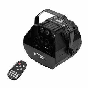 ammoon Projecteur de Machine à Bulles LED Éran Activé par le Son avec Poignée en Forme de U Télécommande pour Décoration de Mariage