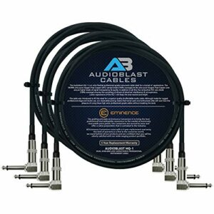 Audioblast – 3 Units – 2 Foot – HQ-1 – Ultra Flexible – Dual Shielded (100%) – Guitar Instrument Effects Pedal Patch Cable.
