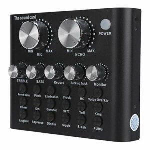 banapoy Carte Son numérique, Carte Son, 112 électroacoustique 18 Effets sonores Accessoires Audio Noirs pour Jeux vidéo diffusés en Direct