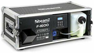 BeamZ F1600 Pro Faze – Machine à brouillard avec flightcase, 1600 Watts, machine à brouillard professionnelle, contrôle DMX, idéal pour DJ professionnels et prestations événementielles