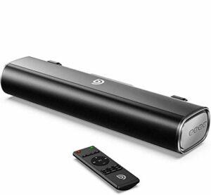 Bomaker Mini Barre de Son PC Haut-parleurs Bluetooth 5.0 Portable 16 Pouces Connexions Optiques/USB/AUX pour TV, Moniteurs, PC, Ordinateur Portable, Téléphone Portable – Noir
