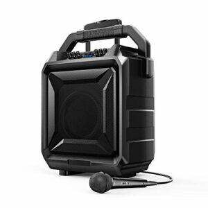 Bomaker Système de Sonorisation Portable, 500 W Système de Karaoké, Haut-Parleur Bluetooth DJ avec Batterie, Micro et Télécommande, 6 Modes d'EQ, Son Surround, compatible avec Guitare, AUX, USB et FM