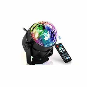 Boule Disco Activée par Le Son Coloré LED Lumières De Scène 3W Projecteur Lampe De Fête De Noël Fournitures Enfants Cadeaux 1 Pièces