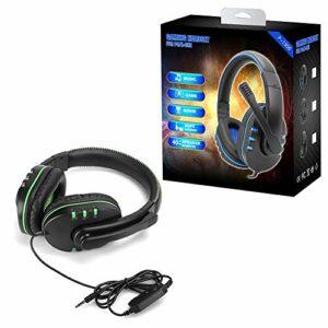 Casque de jeu, avec microphone, coussinets ergonomiques et souples, casque binaural Heavy Bass, interface 3,5 mm, pour ordinateur , pour téléphone, casque de jeu cool, pour les amateurs de musique