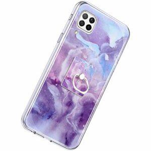 Compatible avec Herbests Huawei P40 Lite Marbre violet.
