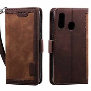 Coque Galaxy A40,Portefeuille Etui Housse pour Samsung Galaxy A40 Coque PU Cuir Flip Wallet Couverture avec emplacements Carte de crédit et Monnaie, Marron