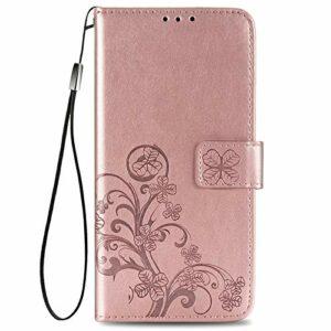Coque pour Galaxy A52 5G Housse, Etui en Cuir PU Portefeuille Coque avec Fente Carte, Fermeture Magnétique und Flip Béquille pour Samsung Galaxy A52 5G – JESD070467 Or Rose