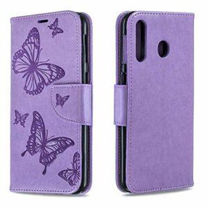 Coque pour Galaxy M30 Antichoc étui Rabat Cuir Case Portefeuille TPU Gel Bumper Silicone Wallet Cover Aimant Housse pour Samsung Galaxy M30 – ZIBF080283 Violet