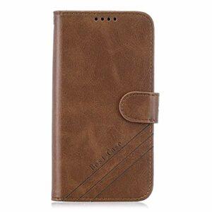 Coque pour Galaxy S20 Ultra Coque,Housse en Cuir Flip Case Portefeuille Etui avec Stand Support et Carte Slot pour Samsung Galaxy S20 Ultra – EYHX010805 Marron