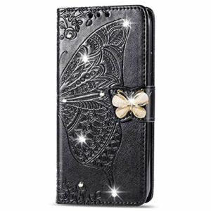 Coque pour Huawei Nova 5 / nova5 Pro Antichoc étui Rabat Cuir Case Portefeuille TPU Gel Bumper Silicone Wallet Cover Aimant Housse pour Huawei Nova 5 – ZISD040634 Noir