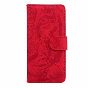 Coque pour Huawei Nova 5T / Honor 20 Coque,Housse en Cuir Flip Case Portefeuille Etui avec Stand Support et Carte Slot pour Huawei Honor20 – EYTX010369 Rouge