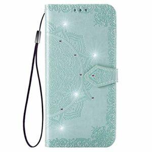 Coque pour Huawei P10 Coque,Housse en Cuir Flip Case Portefeuille Etui avec Stand Support et Carte Slot pour Huawei P10 – EYSD030751 Vert