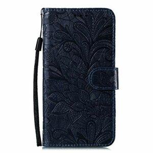 Coque pour LG K40S Housse, Etui en Cuir PU Portefeuille Coque avec Fente Carte, Fermeture Magnétique und Flip Béquille pour LG K40S – JEEB020942 Bleu