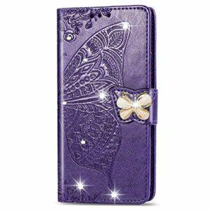 Coque pour Xiaomi Mi 9 Antichoc étui Rabat Cuir Case Portefeuille TPU Gel Bumper Silicone Wallet Cover Aimant Housse pour Xiaomi Mi9 – ZISD041319 Violet