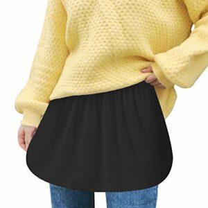 Dasongff Mini jupe d'extension pour t-shirt – Couche réglable – Jupe intérieure – Faux top pour fille – Basic – Mini jupe – Pull – Sweatshirt – Veste – Manteau