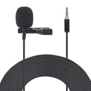 DAUERHAFT Mini Microphone à Pince APS Durable de 1,5 mètre de Long, pour conférence, Entretien, etc.