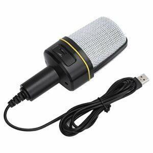 Dilwe Microphone karaoké, Microphone de Diffusion en Direct stéréo Low Nosie 3.5, système d'enregistrement Haute fidélité Microphone omnidirectionnel pour Le Chant en Ligne, Enregistrement réseau