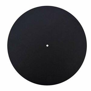 Disque vinyle, véritable son naturel antistatique antidérapant antidérapant en cuir véritable Slipmat Slip, pour la maison(Thickness 2.5MM)