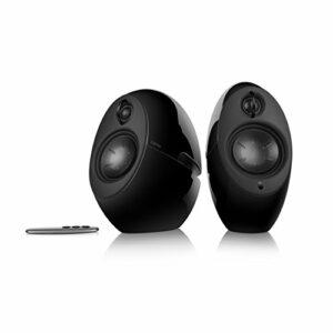 EDIFIER Luna Eclipse – Kit d'enceintes Design 2.0 Bluetooth avec Télécommande IR Noir 74 W