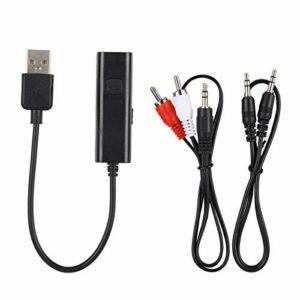 Émetteur Bluetooth d'apparence compacte Récepteur Bluetooth Durable stéréo Facile à Transporter Haute qualité pour TV, Ordinateur Portable, boîtier TV, MP3