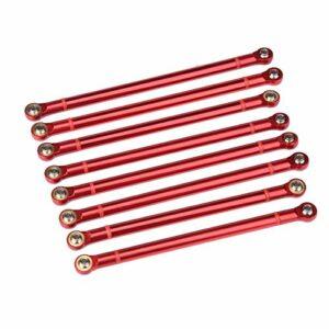 Exécution exquise Haute robustesse RC Crawler Car Link Rod résistant à l'usure RC Crawler Car Accessory pour amis famille garçons filles(red)