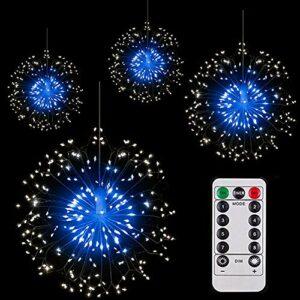 Feu d'artifice LED – USB – 320 LED – Guirlande lumineuse avec 8 modes d'éclairage – Étanche – Fil de cuivre – Pour jardin, terrasse, mariage, fête, Noël