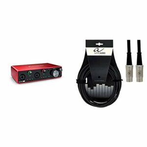 Focusrite Scarlett 4i4 3rd Gen Audio Interface & Alpha Audio 190780 Pro Line Cordon MIDI 3 m Noir