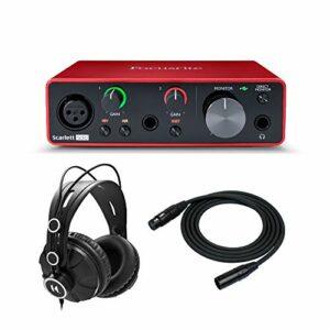 Focusrite Scarlett Solo 3ème génération Interface audio USB avec casque et câble XLR