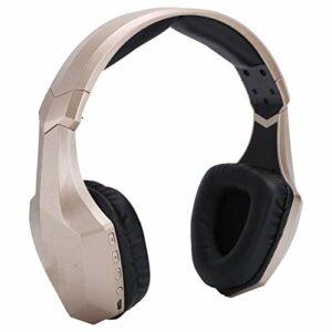Goshyda Casque Bluetooth, Casque d'écoute de Musique Surround stéréo HiFi sans Fil avec Microphone et lumière LED pour Ordinateur Portable Tablette Smartphone