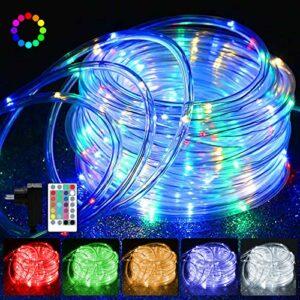 Guirlande lumineuse LED 20 m – Avec 200 LED – Étanche IP68-16 couleurs – 4 modes – Guirlande lumineuse à intensité variable – Avec télécommande, fonction mémoire et prise pour jardin, terrasse