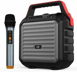 Haut-parleurs Bluetooth SHIDU avec microphone de poche Haut-parleur de sonorisation 30W avec machine de karaoké système de sonorisation portable avec fonction de radio USB SD FM pour la maison la fête