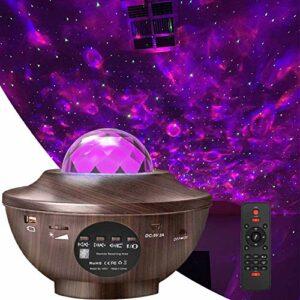 Homcasito Veilleuse Projecteur de musique avec télécommande et minuteur pour chambre d'enfant ou de bébé