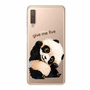 Homikon Ultra Mince TPU Silicone Coque Etui de Protection Souple Anti-Scratch Transparent Flexible Housse Bumper Étui Case Cover Couverture pour Samsung Galaxy A7 2018 – Faire Un Panda