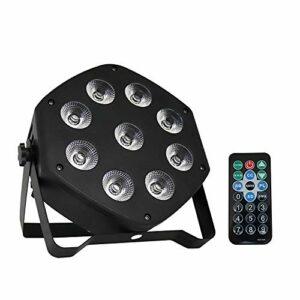 Honglimeiwujindian Lumières de Scène de Partie De LED 9 LED par phares BLANDLIT Wedding Show KTV Bar Lights Scène Effet de Fête sur Scène (Couleur : Black, Size : 18.3×7.56cm)