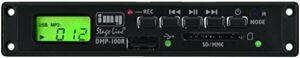IMG Stage Line DMP de 100R Petit Enregistreur MP3Module de montage Noir