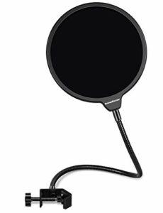 InnoGear Filtre anti-pop pour microphone – 15,2 cm – Double couche – Avec support en alliage d'aluminium et col de cygne à 360° – Pour Blue Yeti et tout autre microphone
