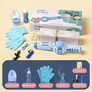 Jsgcf Machine à bulles, machine à bulles de fumée élastique pour enfants