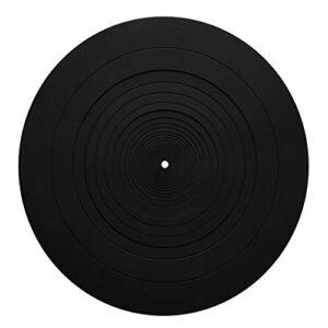 Kcnsieou Tapis antidérapant en silicone pour phonographe, tourne-disque vinyle