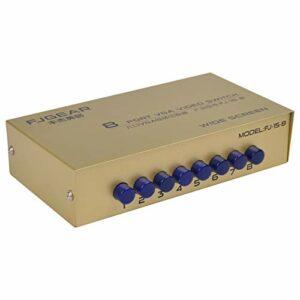 kdjsic Boîte de Commutation vidéo de commutateur VGA 8 Ports 1920 * 1440 250MHz Sélecteur de Prise en Charge 8 en 1 Sortie pour Moniteur PC