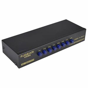kdjsic Commutateur AV 8 Voies Commutateur RCA 8 en 1 sur boîte de sélection vidéo Composite L/R pour Consoles de Jeux DVD